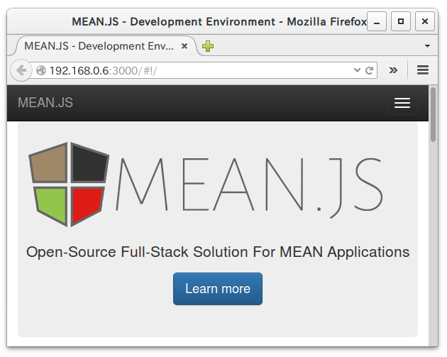MEAN.JS on Raspberry Pi 2
